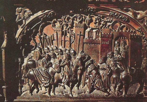 Escena de la sillería de la Catedral de Toledo que recrea la conquista de Setenil. Foto: ÁNGEL MEDINA.