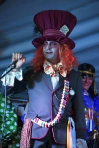 Juan Sánchez, con su magnífico disfraz en los últimos carnavales.