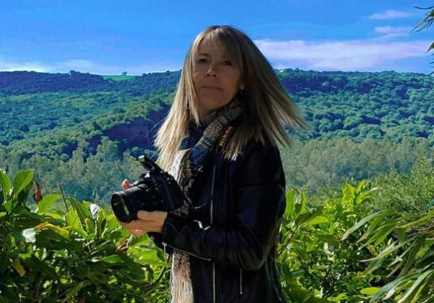 María GJ, en una sesión de fotos.