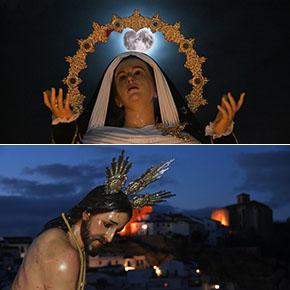 Dos postales antológicas de la Semana Santa deSetenil