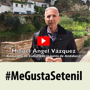 """Miguel Ángel Vázquez, consejero de Cultura: """"Setenil esúnico"""""""