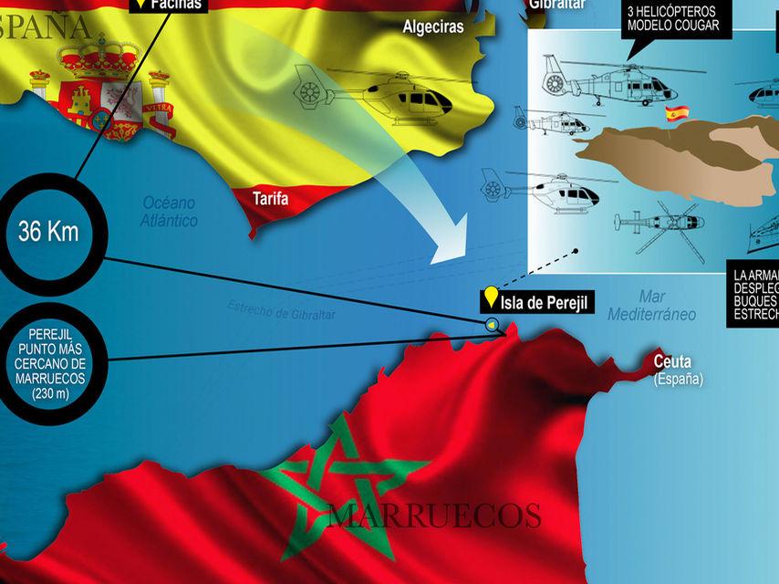 Infografía de la operación militar.