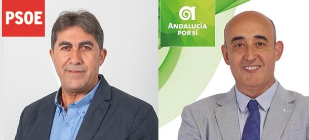En la imagen, Manuel Benítez, a la izquierda, y Rafael Vargas, a la derecha.