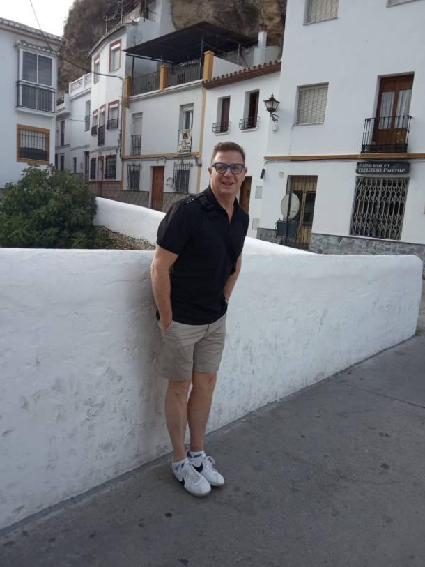 Jorge Cadaval, en Setenil.
