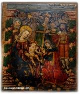 Adoración de los Reyes al niño Jesús. Detalle del retablo de La Anunciación. Iglesia de la Encarnación. Setenil. Foto: ÁNGEL MEDINA LAÍN