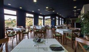 El Restaurante El Mirador, con su formidable ventanal panorámico.