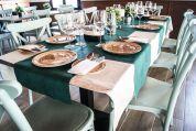 Mesa en el restaurante El Nogalejo.