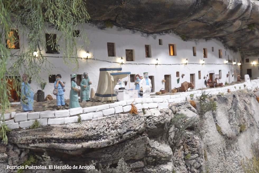 Calle Cuevas del Sol en el Belén de Fraga.