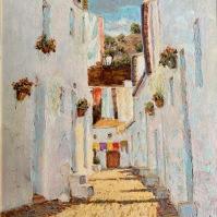La calle Mina pintada en 1997 por Juan Marín. Foto: ÁNGEL MEDINA LAÍN