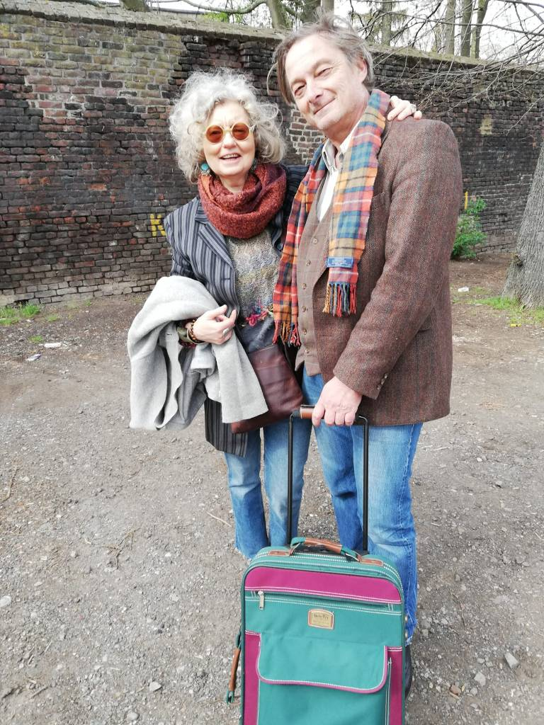 Jean Pierre Hazée y su pareja. Llegaron a Setenil por primera vez en 1984 y se alojaron en la calle Vilches, en una casa de Francisco Álvarez.